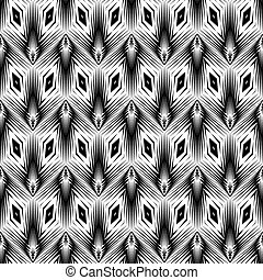 padrão geométrico, monocromático, desenho, seamless