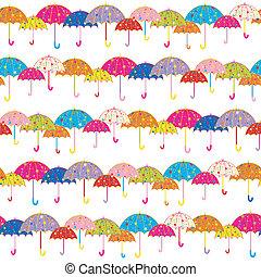 padrão, guarda-chuva, seamless, coloridos