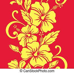 padrão, hula, seamless, havaiano