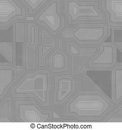 padrão, inspirado, seamless, circuito computador, greyscale