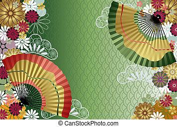 padrão, japoneses, tradicional