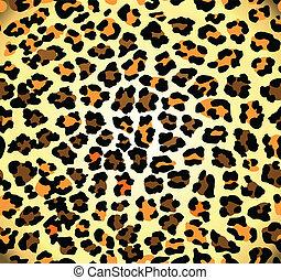 padrão, leopardo, seamless