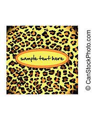 padrão, leopardo