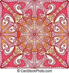 padrão, mandala, seamless