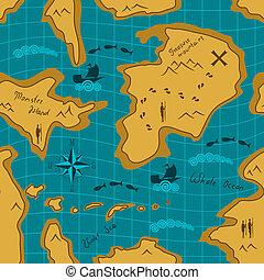 padrão, mapa, aventura, seamless