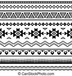 padrão, mexicano, seamless, aztec