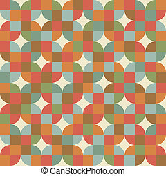 padrão, mosaico, style., retro, seamless, azulejos