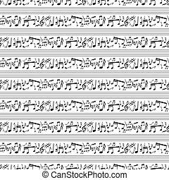 padrão, notas, musical
