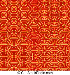 padrão, oriental, seamless