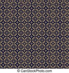 padrão, ornamental, dourado