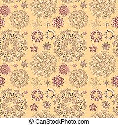 padrão, ornamento, redondo, seamless
