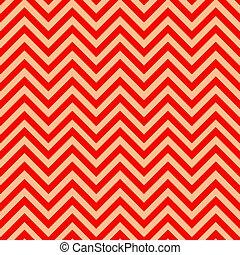 padrão, ouro, chevron, vermelho