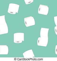 padrão, papel, rolo toalete, seamless