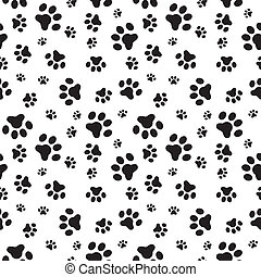 padrão, patas, cão, seamless