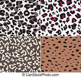 padrão, pele, seamless, animal, tecido