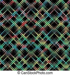 padrão, pixel, coloridos