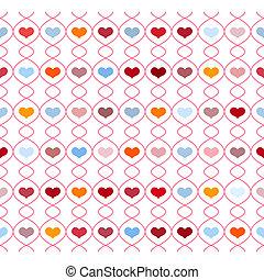 padrão, repetindo, corações