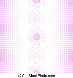 padrão, repetindo, pink-white