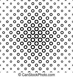 padrão, repetindo, pretas, anel branco
