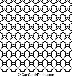 padrão, repetindo, pretas, branca, elipse