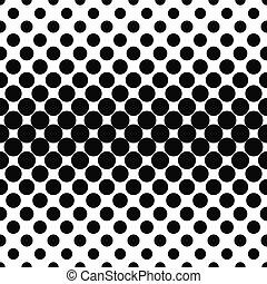 padrão, repetindo, pretas, ponto, branca