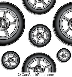 padrão, rodas