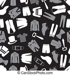 padrão, roupa, seamless, eps10, mens