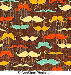 padrão, seamless, bigode