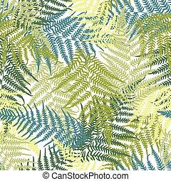 padrão, seamless, fern