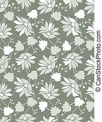 padrão, seamless, fundo, floral