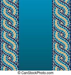 padrão, seamless, mosaico, onda