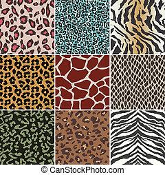 padrão, seamless, pele animal