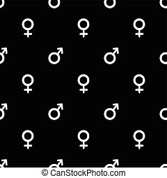 padrão, seamless, sinal, fêmea preta, macho