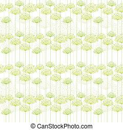 padrão, seamless, springtime, dandelion