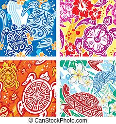 padrão, seamless, tartarugas