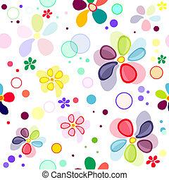 padrão, seamless, vívido, floral