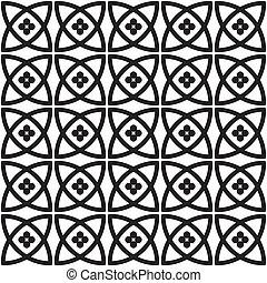 padrão, seamless, (vector)
