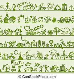 padrão, seu, seamless, concept., ecologia, desenho