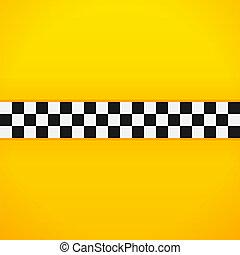 padrão, tabuleiro damas, amarela