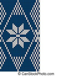 padrão, tricote, seamless, snowflake
