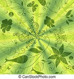 padrão, verde, seamless