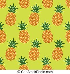 padrão, vetorial, seamless, abacaxi