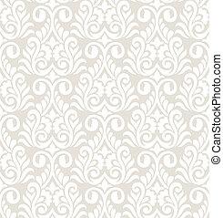 padrão, vetorial, seamless, damasco