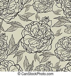 padrão, vetorial, seamless, floral