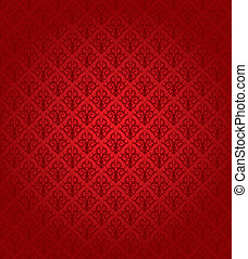 padrão, (wallpaper), seamless, vermelho