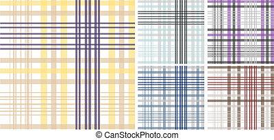 padrão, xadrez, seamless, fundo, tecido