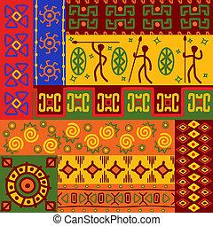 padrões, abstratos, ornamentos, étnico