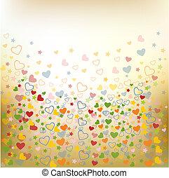 padrões, amor, seamless, coloridos