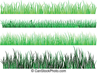 padrões, capim, verde