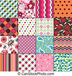padrões, tecido, seamless, textu